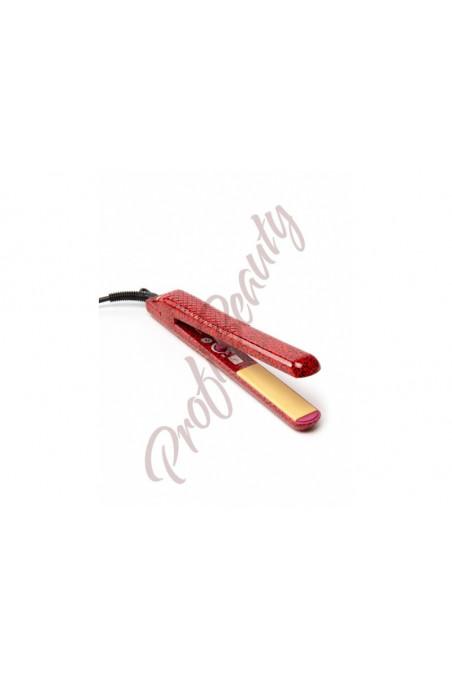 Keramická žehlička F.I.T. na vlasy - červený leopard