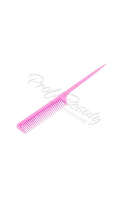 Hřeben - růžový - s plastovou špičkou