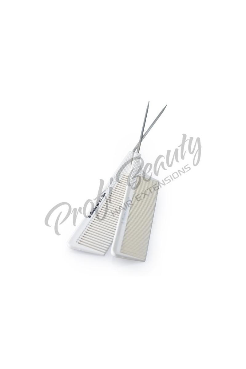 Hřeben - bílý - s kovovou špičkou