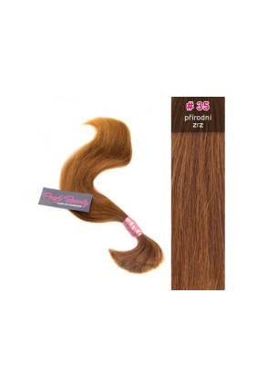 Středoevropské vlasy - přírodní zrz - 35