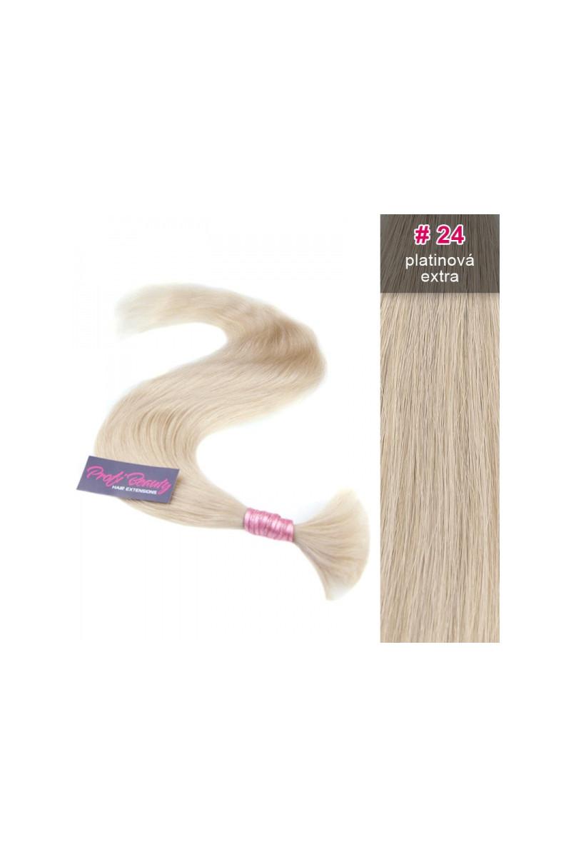 Středoevropské vlasy - bělené - platinová extra - 24