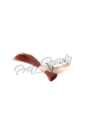 Středoevropské vlasy - červená - red, 10-15 cm