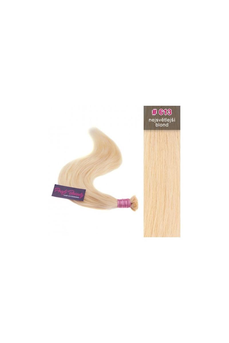 Středoevropské vlasy - bělené - nejsvětlejší blond - 613