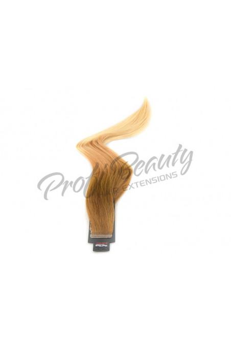 Remy pásky - Ombre středně hnědá/mix světle blond