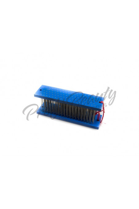 Modrý drhlen na zpracování copů/pramíkování