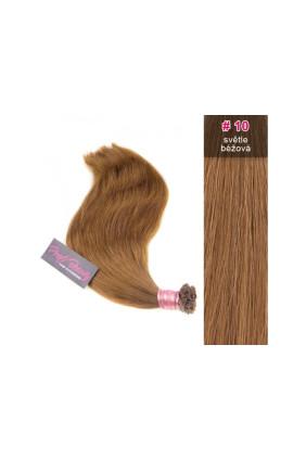 Středoevropské vlasy - barvené - světle béžová - 10B
