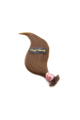 Středoevropské vlasy - barvené - světle hnědá - 8B