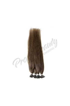 Středoevropské vlasy - barvené - středně hnědá - 4B, 30-35 cm