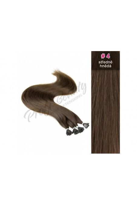 Středoevropské vlasy - barvené - středně hnědá - 4B