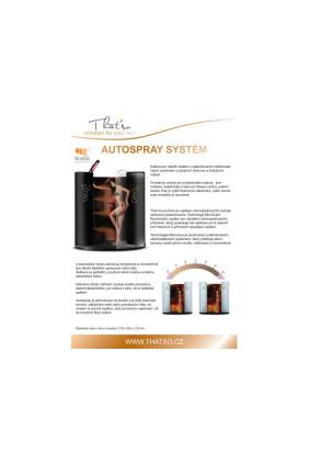 That´so automatická samoopalovací kabina s infra dohřevem Autospray