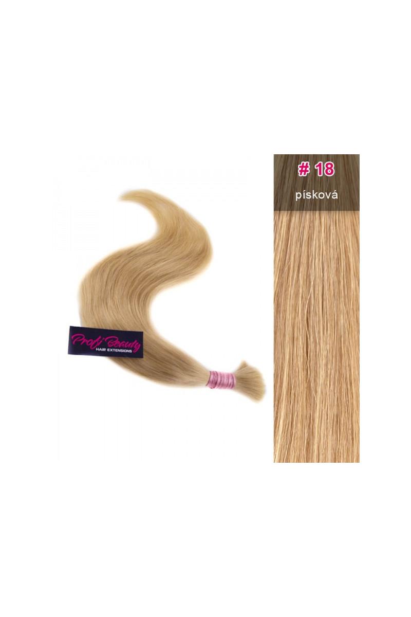 Středoevropské vlasy - barvené - písková - 18
