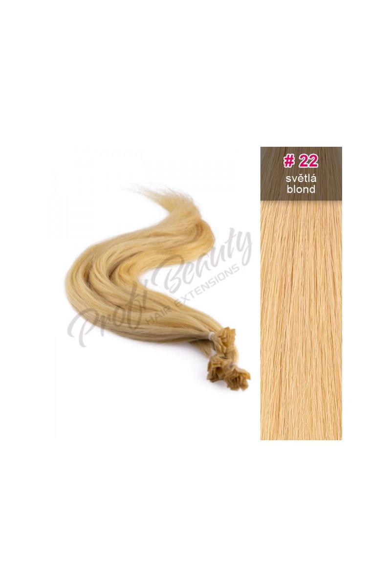 Středoevropské vlasy - barvené - světlá blond - 22