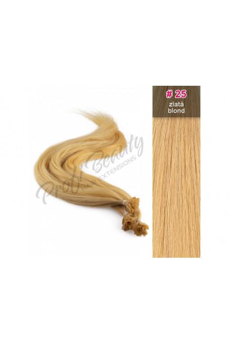 Středoevropské vlasy - barvené - zlatá blond - 25