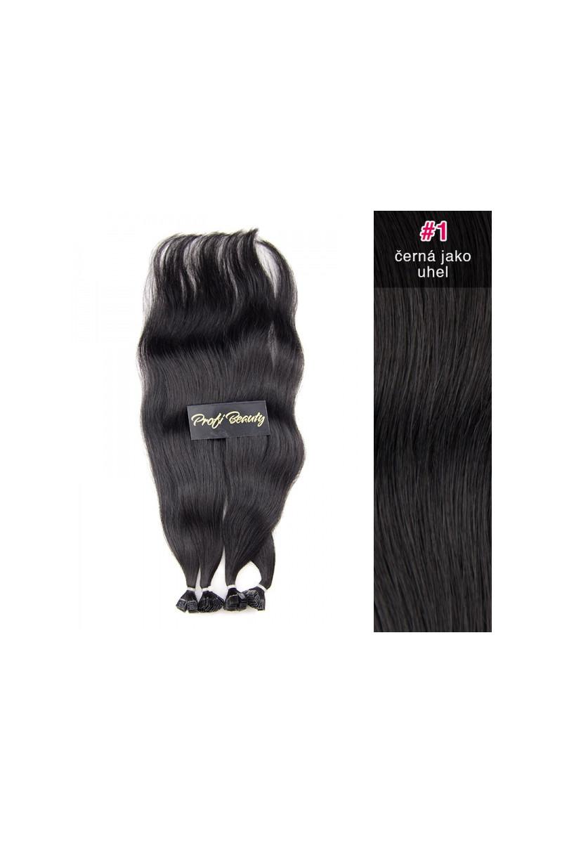 Středoevropské vlasy - barvené - černá jako uhel - 1