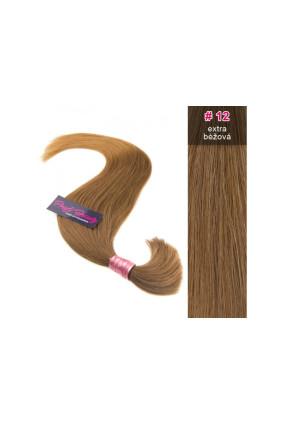 Středoevropské vlasy - barvené - extra béžová - 12B