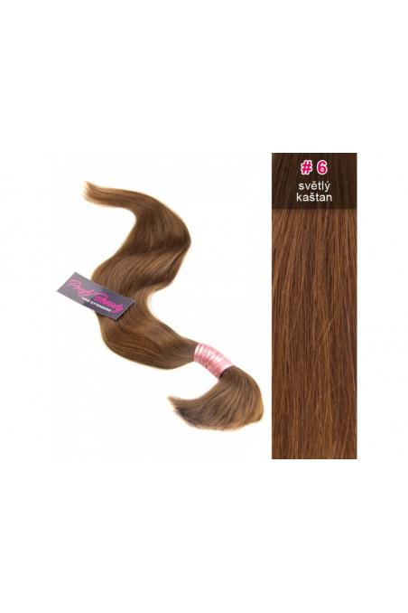 Středoevropské vlasy - barvené - světlý kaštan - 6B