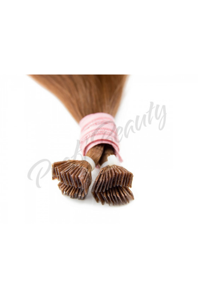 Středoevropské vlasy - barvené - světlý mahagon - 30