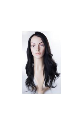 Paruka středoevropské vlasy,odstín 1B, délka 45-50 cm - zakázková výroba