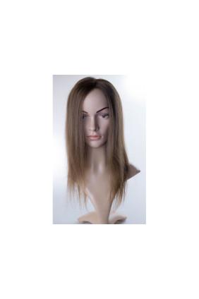 Paruka středoevropské vlasy,odstín 9, délka 35-40 cm - zakázková výroba