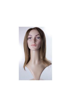 Paruka středoevropské vlasy,odstín 8, délka 30-35 cm - zakázková výroba