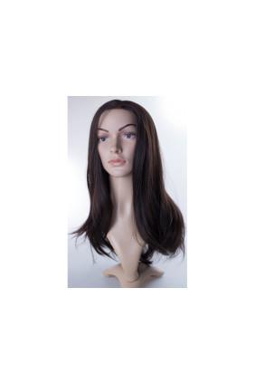 Paruka středoevropské vlasy,odstín 2, délka 40-45 cm - zakázková výroba