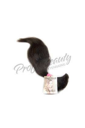 Středoevropské vlasy - barvené - tmavě hnědá - 2B