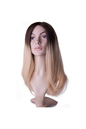 Paruka středoevropské vlasy,odstín OMBRÉ 4/613, délka 40-45 cm - zakázková výroba