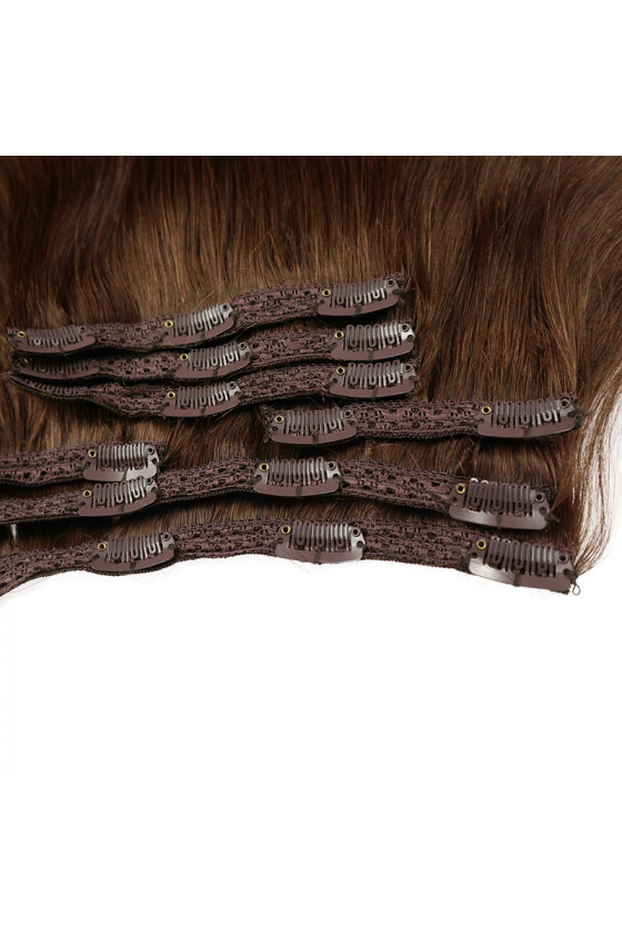 Clip In REMY HOLLYWOOD, 260 g, 50 - 55 cm, ombre - 4/18