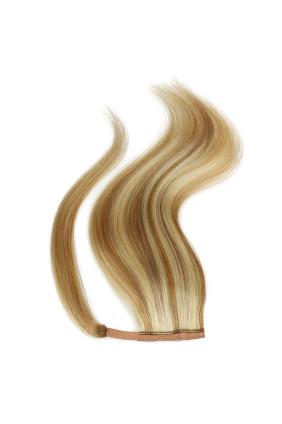 Culík - ponytail - melír písková/platina - 18/60, 50 cm, 100 g