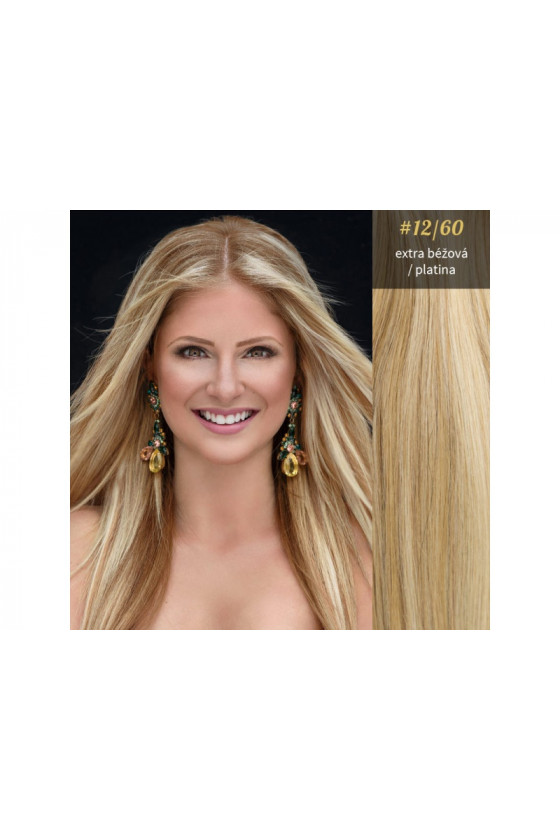 Clip In REMY CLASSIC, 120g, melír - 8/60