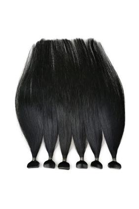 Barvené vlasové pásky ProfiBeauty® - černá jako uhel - 1