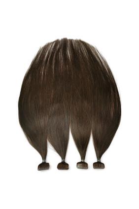 Barvené vlasové pásky ProfiBeauty® - středně hnědá - 4