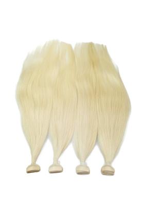 Barvené vlasové pásky ProfiBeauty® - platina - 60