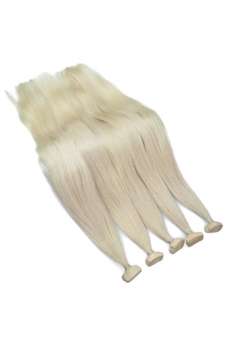 Barvené vlasové pásky ProfiBeauty® -bílá blond - 61
