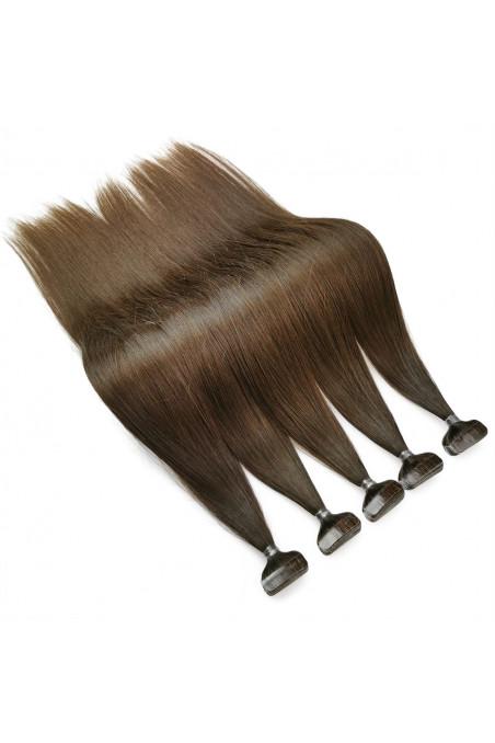 Barvené vlasové pásky ProfiBeauty® - světlý kaštan - 6