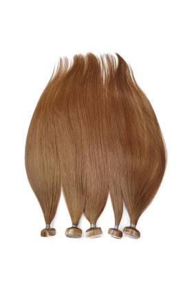 Barvené vlasové pásky ProfiBeauty® - světlý mahagon - 30