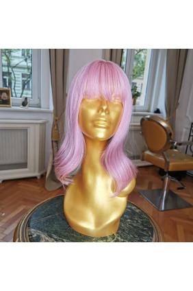 Syntetická paruka - 30-35 cm, růžová