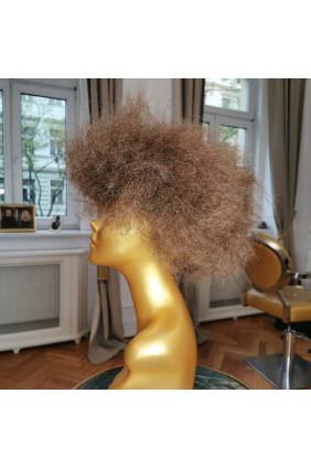 Syntetická paruka standard Afro Krep - středně hnědá 4
