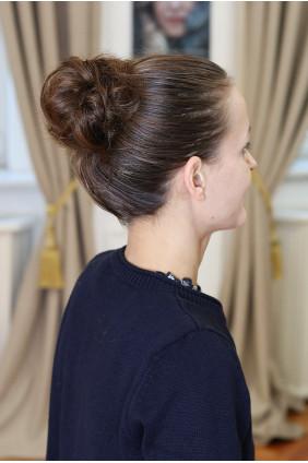 Vlasová gumička - tmavě hnědá - 2