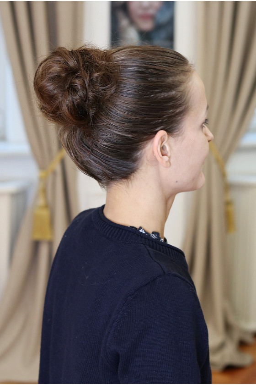 Vlasová gumička - světlý mahagon - 30