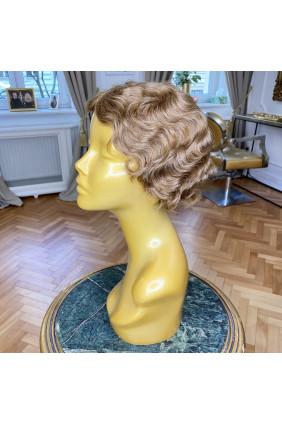 Paruka z pravých vlasů - pokládaná vlna - 10-15 cm, přírodní zrz 35