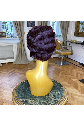 Paruka z pravých vlasů - pokládaná vlna - 10-15 cm, kaštanově mahagonová 32