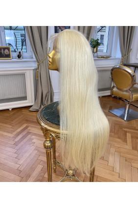 Paruka z pravých vlasů - panenské středoevropské, 80-90cm, světlá blond - 22, velikost M