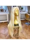 Paruka z pravých vlasů - panenské středoevropské, 90-100cm, nejsv. blon - 613, velikost M