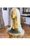 Paruka z pravých vlasů - panenské středoevropské, 70-80cm, nejsv. blond - 613, velikost M