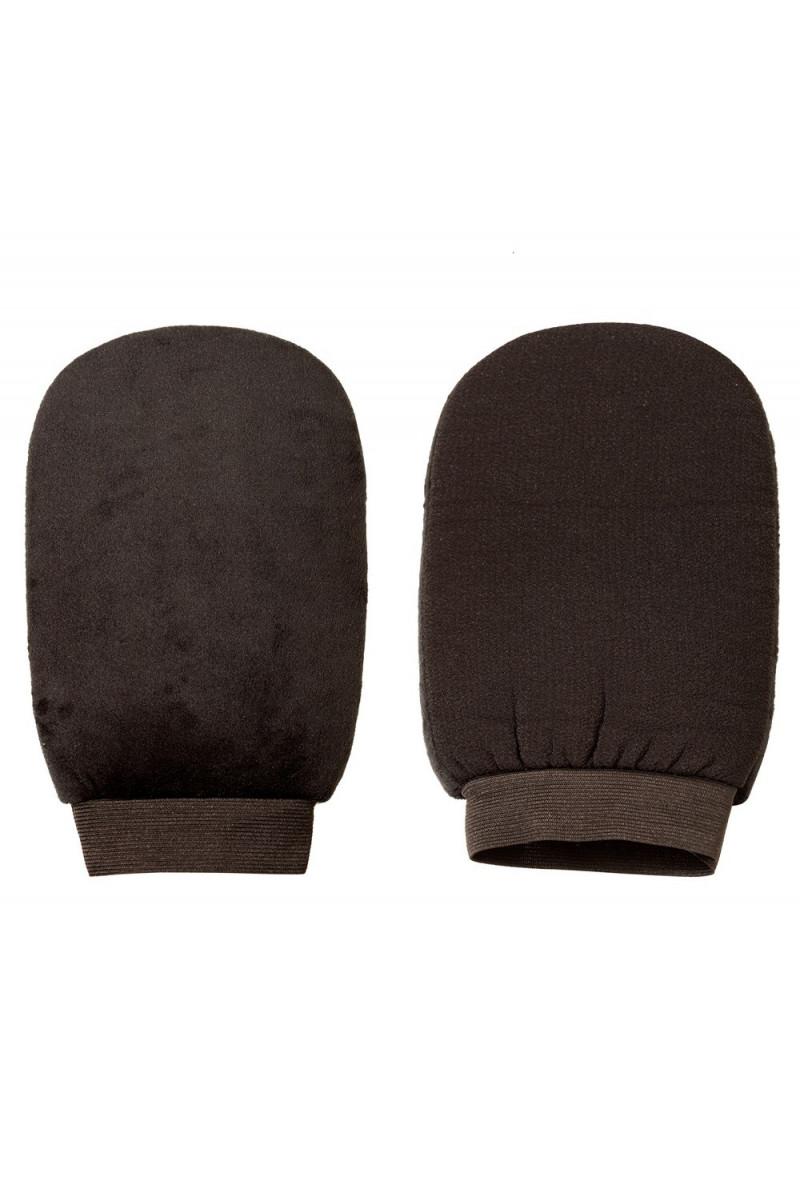 2in1 Pěnové rukavice k aplikaci samoopalovacích přípravků + peeling