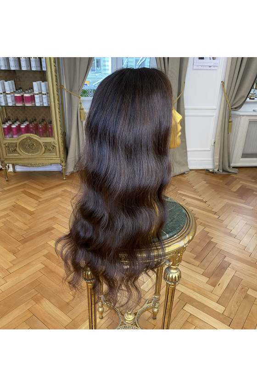 Paruka z pravých vlasů - panenské středoevropské, 70-80cm, přírodně černá - 1B, velikost M