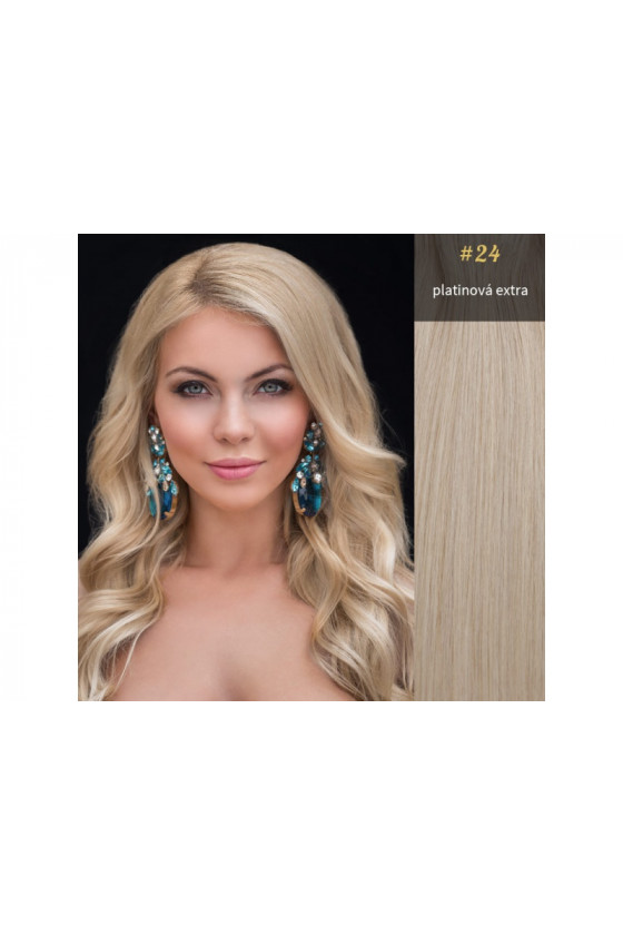 Clip In REMY CLASSIC, 120g, extra platina - 24