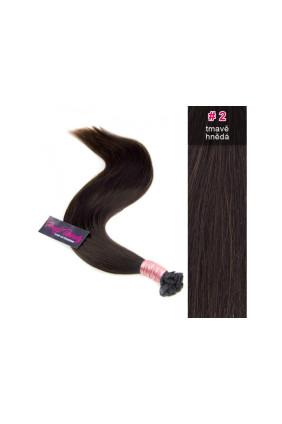 Středoevropské vlasy - tmavě hnědá - 2