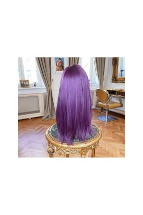 Syntetická paruka s ofinou rovná Candyshop - 50-55 cm, Purple